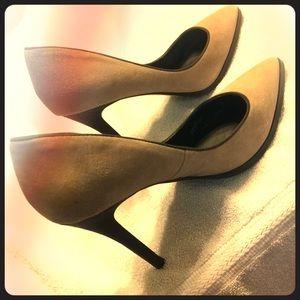 Suede high heels, name brand Charles , like new!